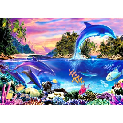 Bluebird-Puzzle - 500 pieces - Dolphin Panorama