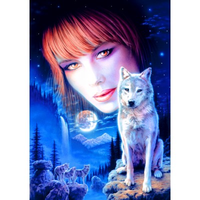 Bluebird-Puzzle - 1000 pieces - Wolf Girl