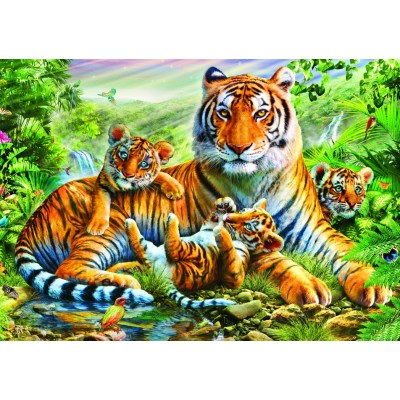 Bluebird-Puzzle - 1500 pieces - Tiger And Cubs