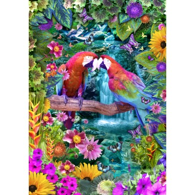 Bluebird-Puzzle - 1500 pieces - Parrot Paradise