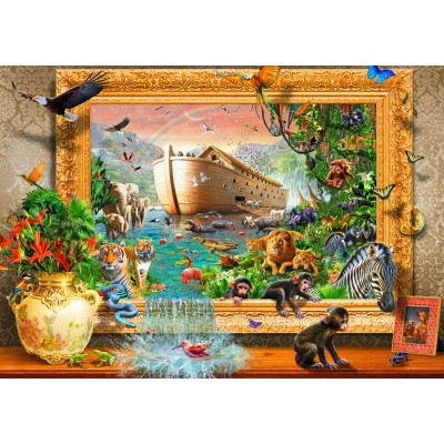 Bluebird-Puzzle - 1500 pieces - Noah's Ark Framed