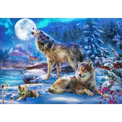 Bluebird-Puzzle - 1500 pieces - Winter Wolf Family