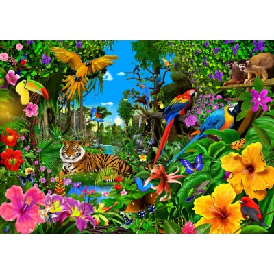 Bluebird-Puzzle - 1500 pieces - Jungle Sunrise