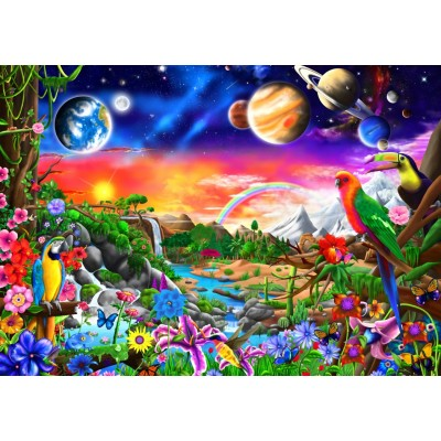 Bluebird-Puzzle - 1000 pieces - Cosmic Paradise