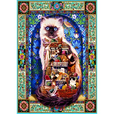 Bluebird-Puzzle - 1500 pieces - Cats Galore