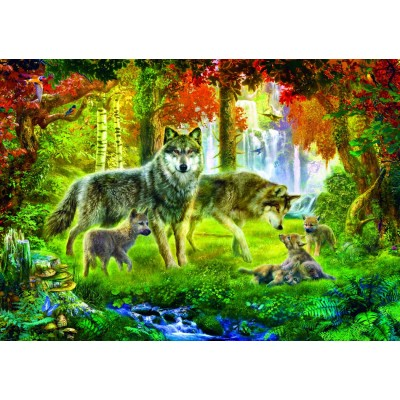 Bluebird-Puzzle - 1000 pieces - Summer Wolf Family