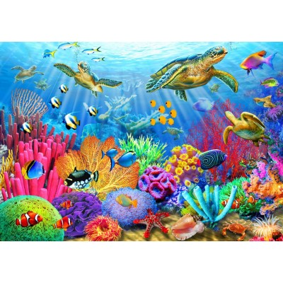 Bluebird-Puzzle - 1000 pieces - Turtle Coral Reef
