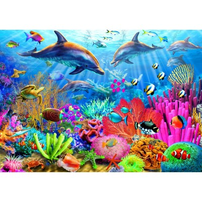 Bluebird-Puzzle - 1000 pieces - Dolphin Coral Reef