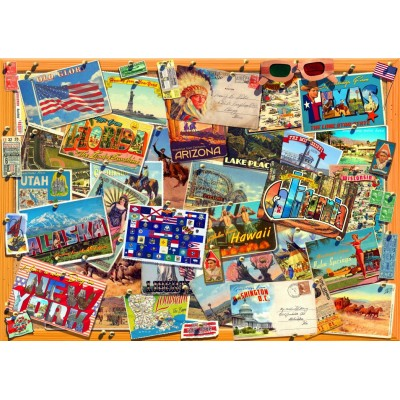 Bluebird-Puzzle - 3000 pieces - Postcard (USA)