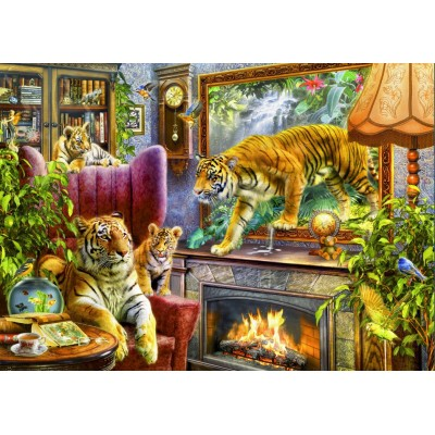 Bluebird-Puzzle - 2000 pieces - Tigers Coming to Life