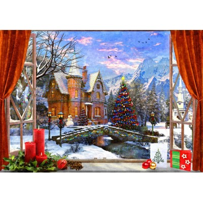 Bluebird-Puzzle - 1500 pieces - Christmas Mountain View