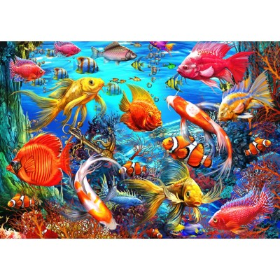Bluebird-Puzzle - 1500 pieces - Tropical Fish