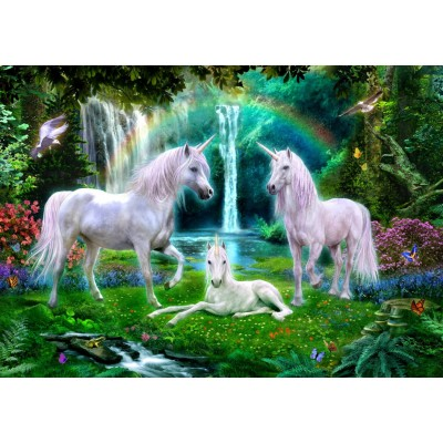Bluebird-Puzzle - 1000 pieces - Rainbow Unicorn Family
