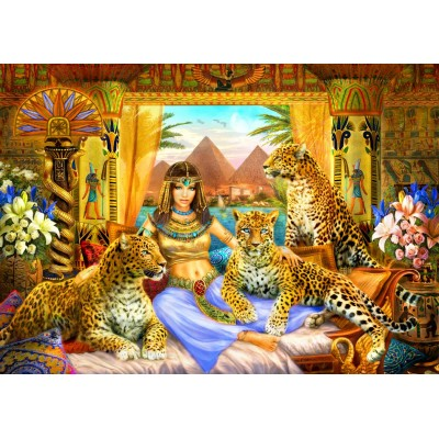 Bluebird-Puzzle - 2000 pieces - Egyptian Queen of the Leopards
