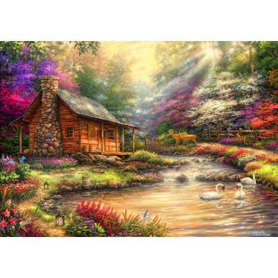 Bluebird-Puzzle - 1000 pieces - Brookside Retreat
