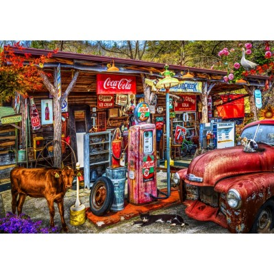 Bluebird-Puzzle - 1000 pieces - On the Back Roads in the Country