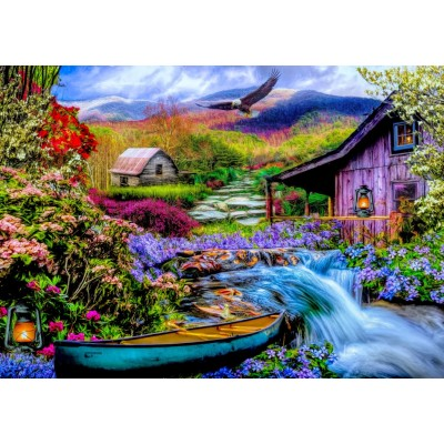 Bluebird-Puzzle - 1500 pieces - Heaven on Earth in the Mountains