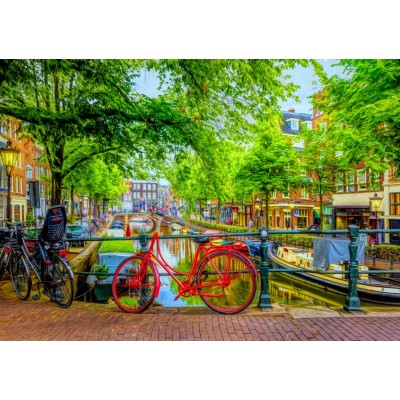 Bluebird-Puzzle - 1000 pieces - The Red Bike in Amsterdam