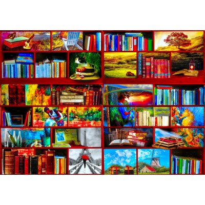 Bluebird-Puzzle - 1000 pieces - The Library The Travel Section