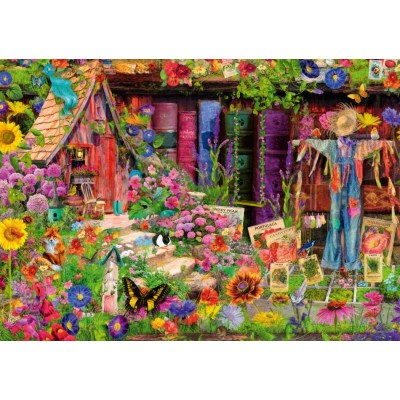 Bluebird-Puzzle - 1000 pieces - The Scarecrow's Garden