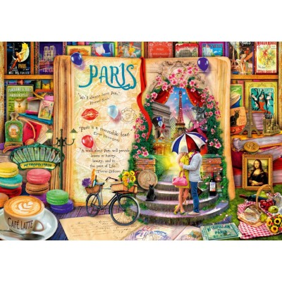 Bluebird-Puzzle - 1000 pieces - Life is an Open Book Paris
