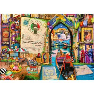 Bluebird-Puzzle - 1000 pieces - Life is an Open Book Venice