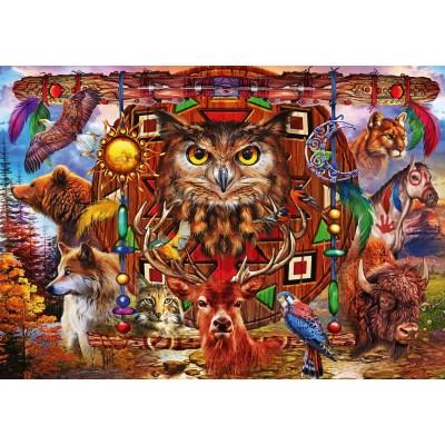 Bluebird-Puzzle - 1000 pieces - Animal Totem