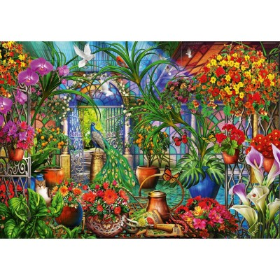 Bluebird-Puzzle - 1000 pieces - Tropical Green House