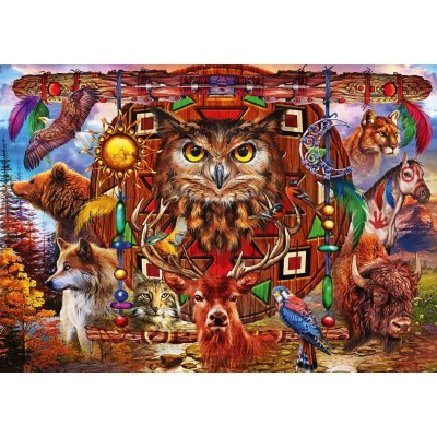 Bluebird-Puzzle - 4000 pieces - Animal Totem