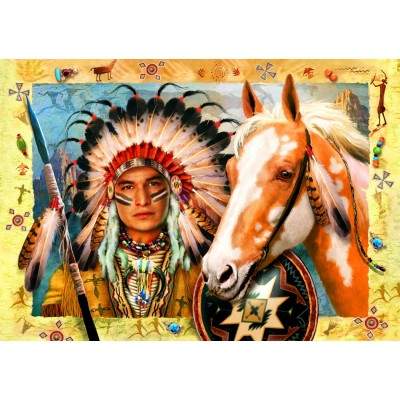 Bluebird-Puzzle - 1500 pieces - Indian Chief