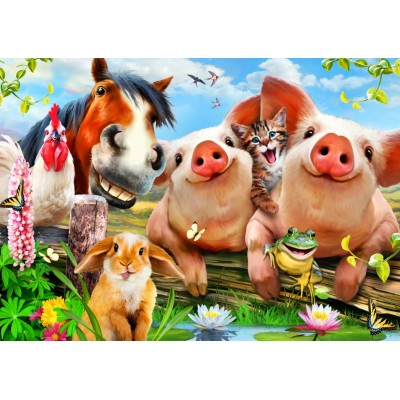 Bluebird-Puzzle - 500 pieces - Petting Farm