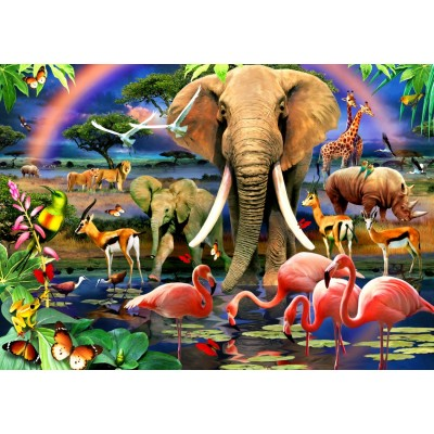Bluebird-Puzzle - 1500 pieces - African Savannah