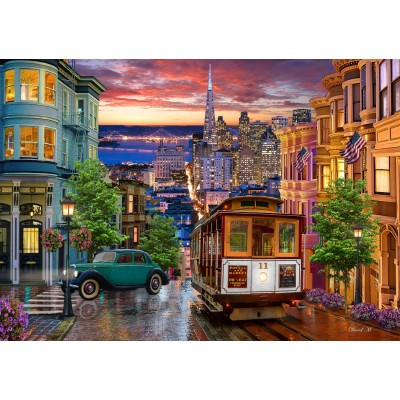 Bluebird-Puzzle - 1000 pieces - San Francisco Trolley