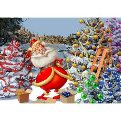 Bluebird-Puzzle - 500 pieces - Christmas Countdown!
