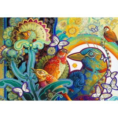 Bluebird-Puzzle - 1000 pièces - Basket of Paradise
