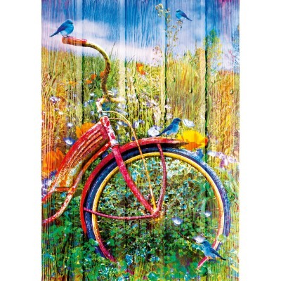 Bluebird-Puzzle - 1000 pieces - Bluebirds on a Bicycle