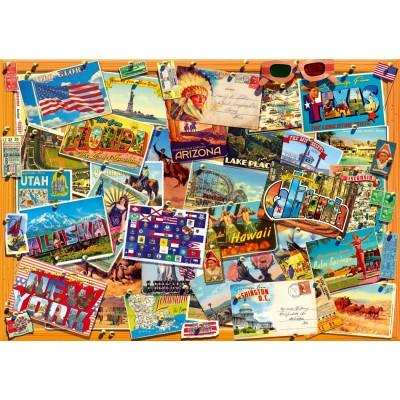 Bluebird-Puzzle - 1000 Teile - Postcard (USA)