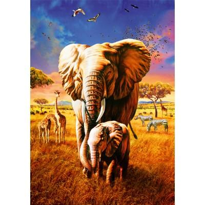 Bluebird-Puzzle - 1000 pièces - Elephant