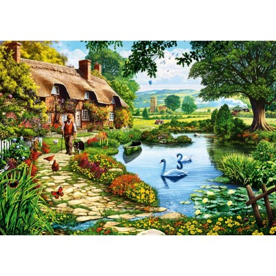 Bluebird-Puzzle - 1000 pieces - Cottage by the Lake
