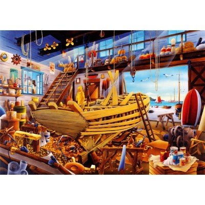 Bluebird-Puzzle - 1000 pieces - Boat Yard
