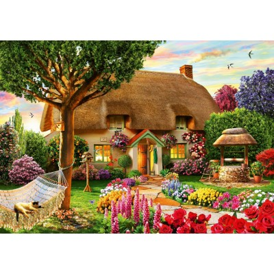 Bluebird-Puzzle - 1000 pieces - Thatched Cottage