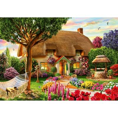 Bluebird-Puzzle - 1000 pièces - Thatched Cottage