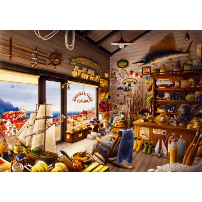 Bluebird-Puzzle - 1000 Teile - Joe & Roy Bait & Fishing Shop