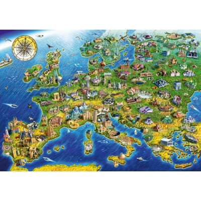 Bluebird-Puzzle - 1000 Teile - European Landmarks
