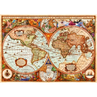 Bluebird-Puzzle - 1000 pieces - Vintage Map