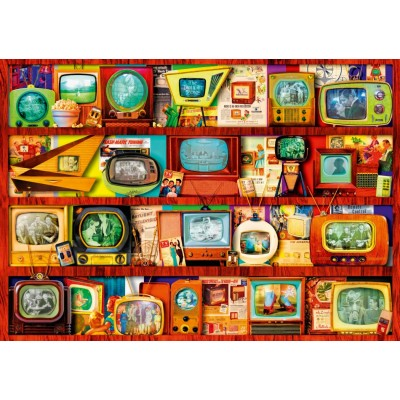 Bluebird-Puzzle - 1000 Teile - Golden Age of Television-Shelf