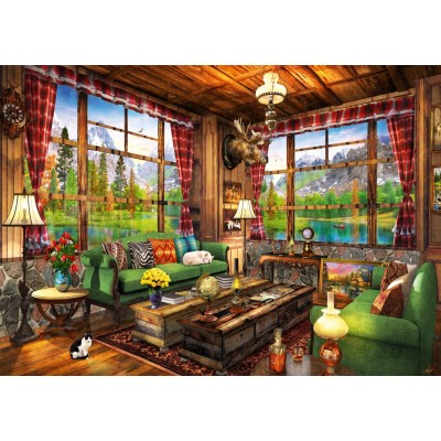 Bluebird-Puzzle - 1000 Teile - Mount Cabin View