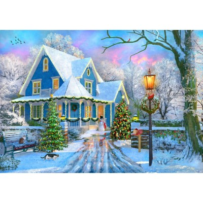 Bluebird-Puzzle - 1000 Teile - Christmas at Home