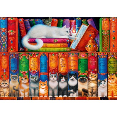 Bluebird-Puzzle - 1000 pieces - Cat Bookshelf