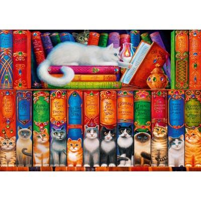 Bluebird-Puzzle - 1000 Teile - Cat Bookshelf